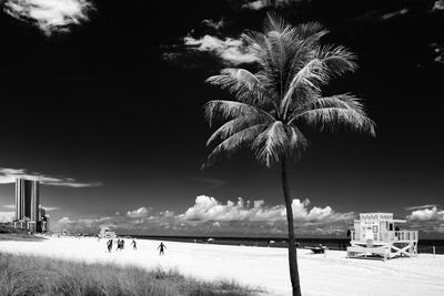 Miami Beach with Life Guard Station - Florida - USA