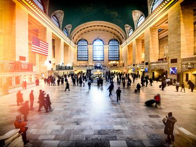 Instants of NY Series - Grand Central Terminal at 42nd Street and Park Avenue in Midtown Manhattan