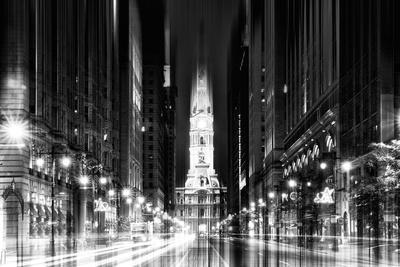 Urban Stretch Series - City Hall and Avenue of the Arts by Night - Philadelphia