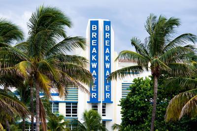Hotel Breakwater Sign - South Beach Miami - Florida