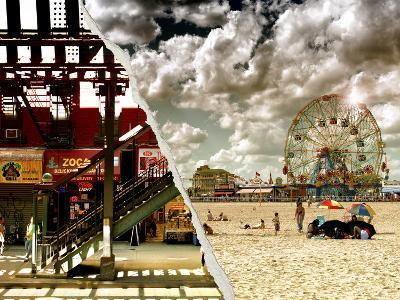 Dual Torn Posters Series - Coney Island NY