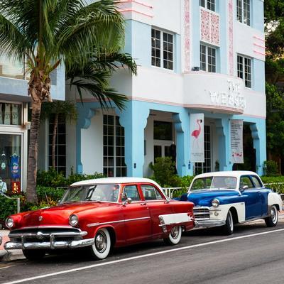 Classic Cars on South Beach - Miami - Florida