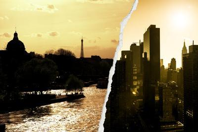 Dual Torn Posters Series - Paris - New York
