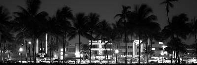 Buildings Lit Up at Dusk of Ocean Drive - Miami Beach - Florida