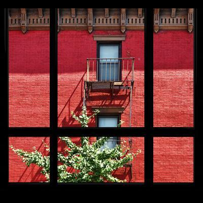 View from the Window - New York Red Facade