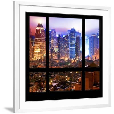 View From The Window Hell S Kitchen Night Manhattan Photographic Print Philippe Hugonnard Allposters Com