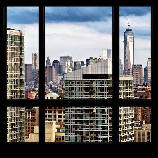 View From The Window Manhattan Skyscrapers Photographic Print Philippe Hugonnard Allposters Com