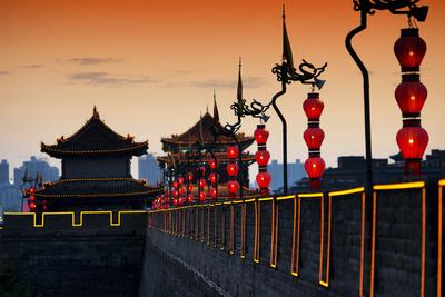 China 10MKm2 Collection - Illumination Night Ramparts - Xi'an City