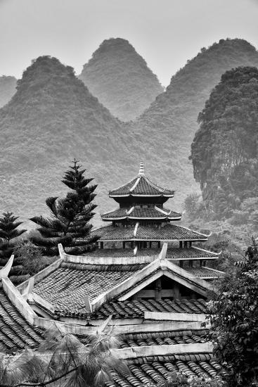 China 10mkm2 Collection Chinese Buddhist Temple With Karst Mountains Photographic Print Philippe Hugonnard Allposters Com