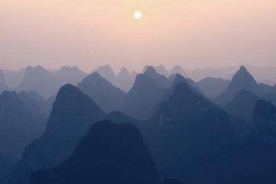 China 10MKm2 Collection - Karst Mountains at Pastel Sunset - Yangshuo