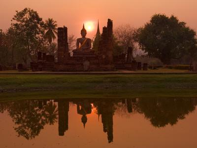 Wat Mahathat, Sukhothai Historical Park, UNESCO World Heritage Site, Sukhothai Province, Thailand,