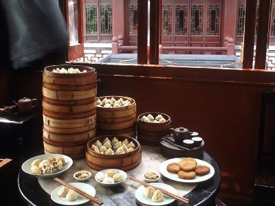Dim Sum in the Famed Teahouse in Shanghai, China, Asia