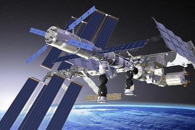 ATV Docked To the ISS, Artwork