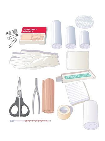 First Aid Kit Equipment, Artwork