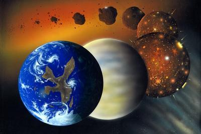 Formation of the Earth, Artwork