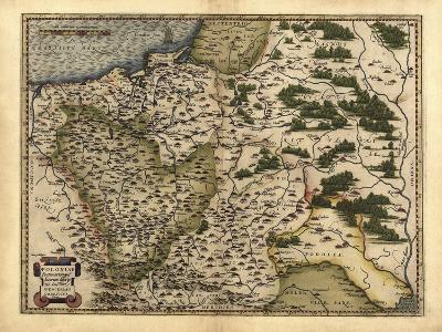 Ortelius's Map of Poland, 1570