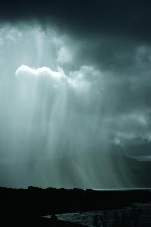 Rain Shower Over the Sound of Mull, Scotland
