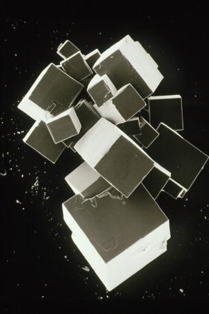SEM of Pure Sodium Chloride (recrystallised)