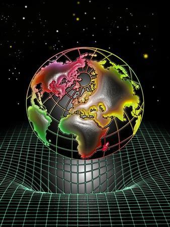 Earth's Gravity Well, Artwork