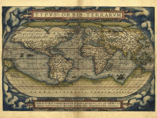 Ortelius's World Map, 1570