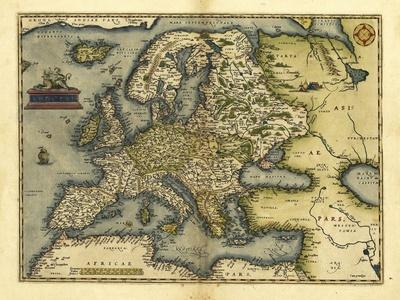 Ortelius's Map of Europe, 1570