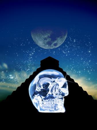 Crystal Skull And Maya Pyramid, Artwork