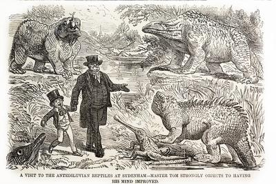 1855 Punch Dinosaurs Crystal Palace
