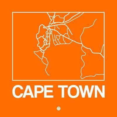 Orange Map of Cape Town