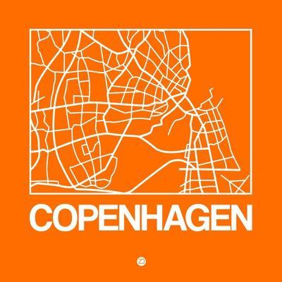 Orange Map of Copenhagen