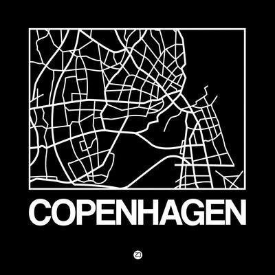 Black Map of Copenhagen