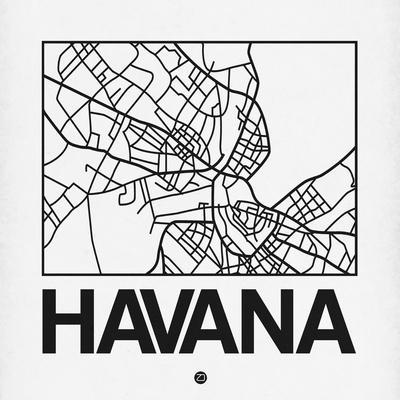 White Map of Havana
