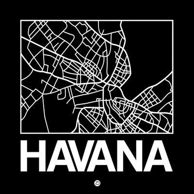 Black Map of Havana