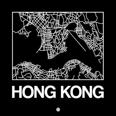 Black Map of Hong Kong