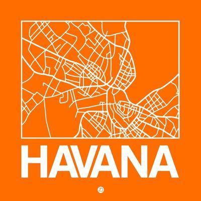 Orange Map of Havana