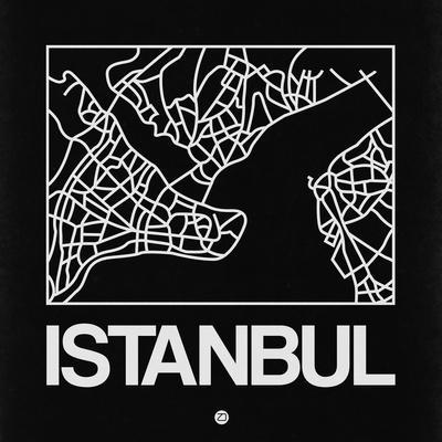 Black Map of Istanbul