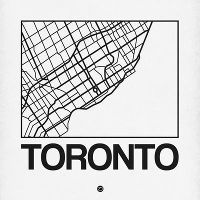 White Map of Toronto