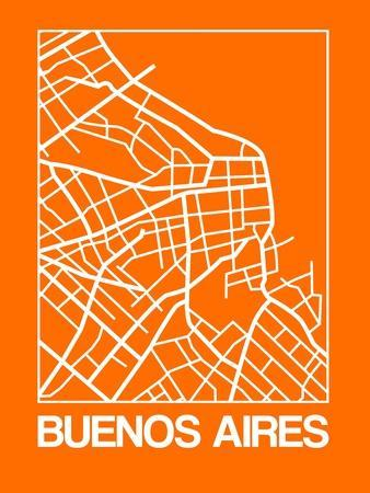 Orange Map of Buenos Aires