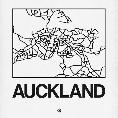 White Map of Auckland
