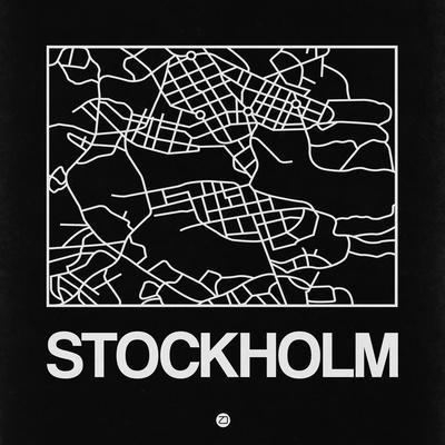 Black Map of Stockholm
