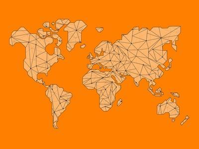 World Map Orange 1