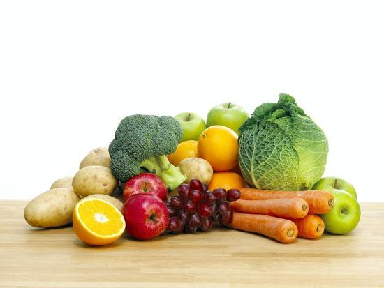 Selection of Fresh Fruit And Vegetables Photographic Print ...