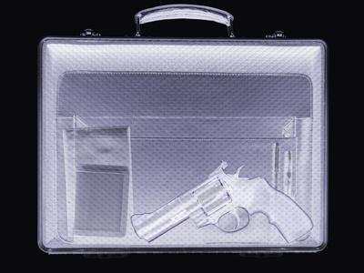 Handgun In Briefcase, Simulated X-ray