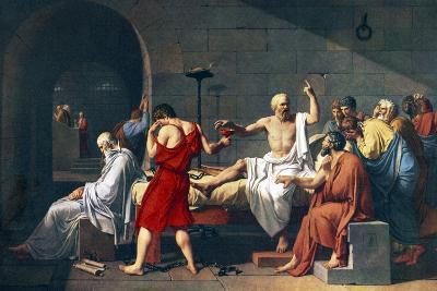 The Death of Socrates, 1787 Artwork