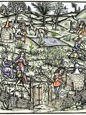 15th Century Herb Garden, Artwork