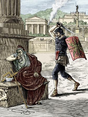 Death of Archimedes In Sack of Syracuse