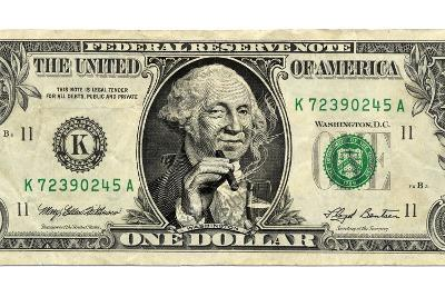 US Dollar Bill, George Washington Parody