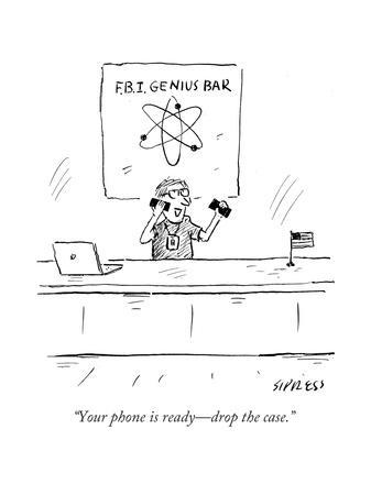 """""""Your phone is ready—drop the case."""" - Cartoon"""