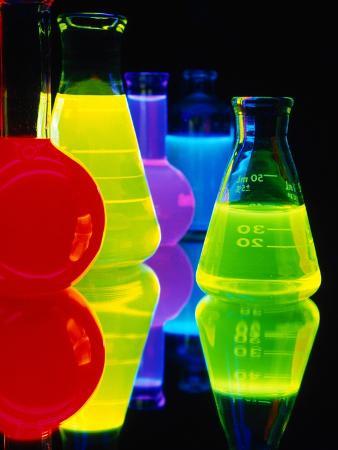 Laser Dyes in Flasks