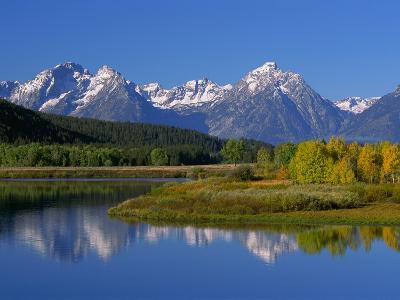 Teton Mountain Range Reflected in the Snake River