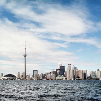 Skyline of Toronto, Ontario, Canada with Lake Ontario